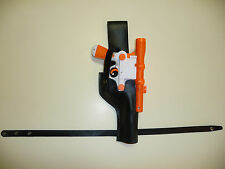 Star Wars Black ANH DL-44 Han Solo LEATHER HOLSTER costume fits Rubies blaster