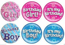Birthday, Child Metal Party Badges & Pins Less than 10