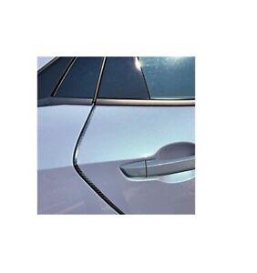 Black Carbon Fiber Door Edge Guard Molding Trim Kit For Select BMW Models