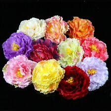 1/50Pc 12cm Artificial Peony Flower Heads Floral Fake Bouquet Wedding Home Decor