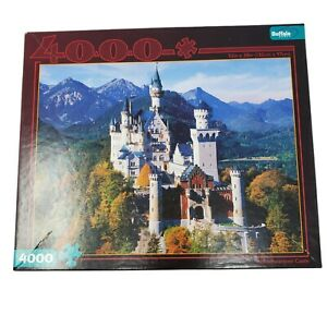 Complete Buffalo Games 4000 Piece Neuschwanstein Castle Jigsaw Puzzle New