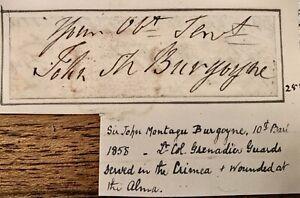 COLONEL SIR JOHN MONTAGU BURGOYNE 10th BART 1796-1858 WOUNDED AT ALMA, CRIMEA