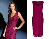 ex Windsmoor Cornelli Lace Raspberry Embellished Occasion Dress