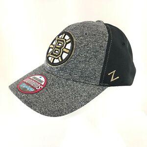 NHL Zephyr Boston Bruins Womens Baseball Cap Zephyr Adjustable Gray Black OS
