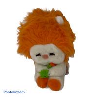 "🍊 8"" Vintage Plush FROU FROU Stuffed Doll ORANGE hair w/flower 1982 Dakin EUC"