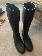 Tory Burch Black Rain Boots Size 11M - Preowned