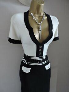 Karen Millen 2 Size 10 12 STRETCH BODYCON FINE KNIT JUMPER DRESS