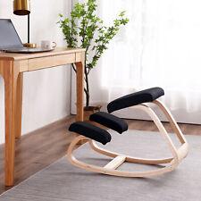 Ergonomica sedia inginocchiata Nero sgabello in ginocchio Biancheria