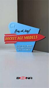 Decorative ROCKET AGE MODELS self standing logo display (for Corgi Toys)