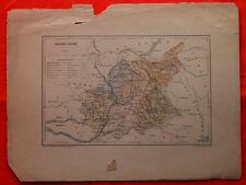 Carte des Basses-Alpes - Lemercier - 1885