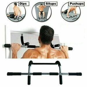 Pull Up Chin Up Bar Doorway Exercise Home Fitness Strength Gym Workout Bars OZ