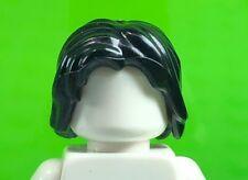 LEGO Black Minifigure Hair Mid-Length Tousled Center Part 88283 Boy Male (x1)
