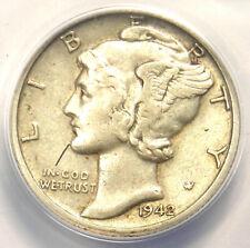 1942/1-D Mercury Dime 10C - Certified ANACS AU50 - Rare Overdate - $942 Value!