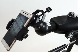 Mobile phone adapter / holder for telescopes & binoculars. Remote control cable
