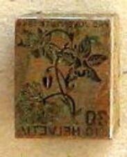 s1565) Schweiz Pro Juventute 1944 Alpenakelei 30 Rappen Druckstock