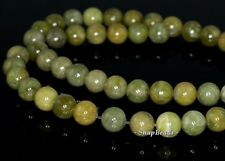 8MM OLIVE PERIDOT GEMSTONE GREEN ROUND 8MM LOOSE BEADS 7.5""