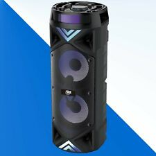 """ZONE ONE Rechargeable DOUBLE 6.5"""" Bluetooth Speaker with BUILT IN APP MIXER/ MIC"""