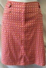 ETCETERA Skirt Size 2 Pencil Pink Purple Geo Print Stretch Career Women's