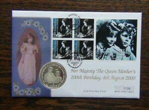 Gibraltar 2000 Queen Mother 100th Birthday Coin Cover