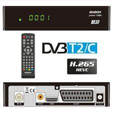 Edision Proton T265 LED FullHD DVB-T2/C Terrestrischer und Kabel Receiver