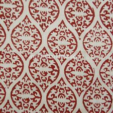 5 Yard 100% Cotton Voile White Indian Hand Block Print Sewing Material Craft