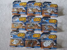 STAR WARS HOT WHEELS 2015 STARSHIPS - COMPLETE SET OF 9 - NEW