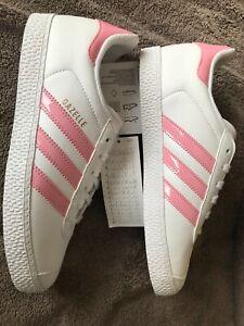 Adidas Gazelle J White Light Pink