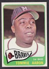 1965 TOPPS TOMMIE AARON CARD NO:567 NEAR MINT CONDITION