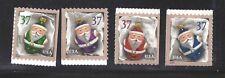 US Scott # 3887 - 3890 /  Christmas Ornaments 2004 Set of Singles MNH