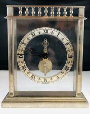 Stainless Steel Le Coultre Gilt Desk Clock