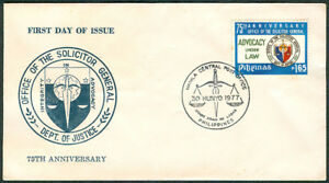 1977 Philippines 75th ANNIVERSARY Office Of The Solicitor General FDC
