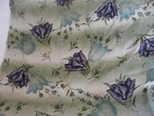 """Vintage AVON? 21"""" x 21"""" Purple/Green Floral Fashion Scarf STUNNING"""