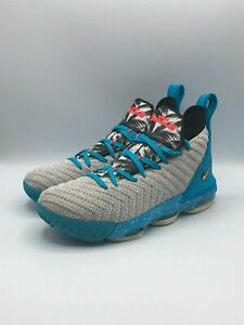 Nike Youth 6.5Y Lebron 16 GS South Beach Basketball Sneakers Shoes AQ2465-076
