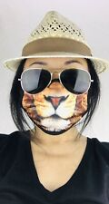 Animal Lion Unisex Double Layer Face Mask Reusable Washable Cover Masks Cloth