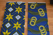 AFRICAN PRINT FABRIC - COMBO - MIX - 100% COTTON  - 6 YARDS.