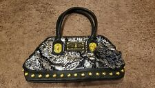 Christian Audigier Snake Skin Purse with Gold Hardware