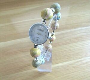 BRAND NEW LADIES / TEENS  ARTISAN EARTH WATCH  WHITE MOTHER OF PEARL DIAL