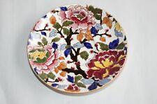 Ancienne sous-tasse en faïence de Gien décor Pivoines diamètre 15 cm