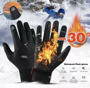 Winter Gloves -30 Degree, Unisex, Touch Screen Full Finger Waterproof - Medium