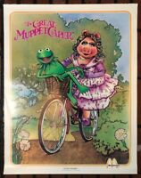 Vintage McDonald's Great Muppets Caper MOVIE POSTER Miss Piggy Kermit 1981 80's