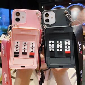 For XiaoMi Redmi Cute 3D Retro Phone Coin Purse Wallet + Strap Stand Case Cover