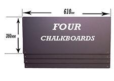 """LARGE PUB CHALKBOARD-BLACKBOARD- QTY """"FOUR""""  610x380mm"""