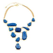 Amrita Singh Heidi bib necklace  different shape resin Lapis stones