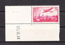 timbre france poste aérienne  11  2f50    rose   cdf  daté   **