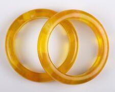 Pair of Orange Bakelite Bangle Bracelets