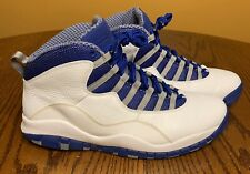 Air Jordan 10 Old Royal White Stealth Steel Chicago Shadow 487214-107 Size 12
