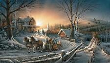 """Pleasures of Winter Horse and Sleigh Art Print By Terry Redlin  18"""" x 10.5"""""""