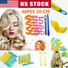 36pcs 25-65cm Water Wave Magic Curlers Formers Leverage Spiral Hairdressing Tool
