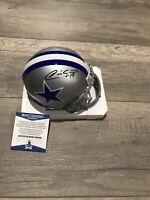 Quincy Carter Signed Autograph Dallas Cowboys Mini Helmet Beckett BAS Coa