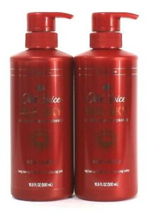 2 Ct Old Spice 16.9 Oz Red Sky With Notes Of Blood Orange Rich Lather Body Wash